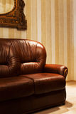 Brown leather sofa Royalty Free Stock Photos