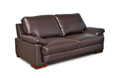 Brown leather sofa Royalty Free Stock Photography