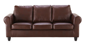 Brown leather sofa Stock Photo