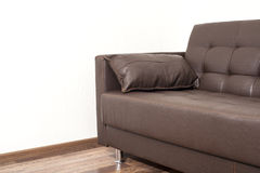 Brown leather sofa Royalty Free Stock Images
