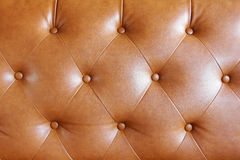 Brown leather sofa texture background Stock Photos