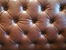 Brown leather sofa texture Stock Photography