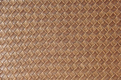 Brown leather square woven weaved pattern. Used for upholstery Royalty Free Stock Images