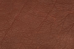 Brown leather surface Royalty Free Stock Images