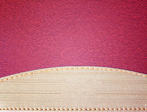 Brown leather surface Royalty Free Stock Photos
