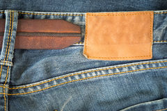 Brown leather tag Royalty Free Stock Image