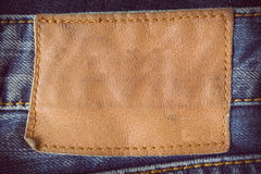 Brown leather tag Stock Photos