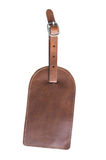 Brown leather tag Royalty Free Stock Photo