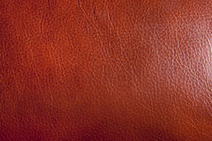 Brown Leather Texture. A close up image of brown leather to be used as a texture or background stock photography
