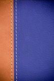Brown leather texture. Close up of brown leather cover book Stock Photos