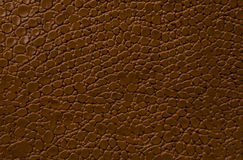 Brown leather texture as background.  Stock Images
