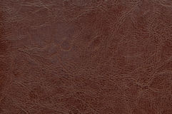 Brown leather texture as background Stock Images