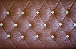 Brown leather texture background. Closeup detail on old brown leather texture background Royalty Free Stock Image