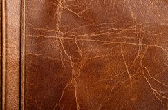 Brown leather texture. Or background for design Stock Images