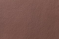 Brown leather texture background with pattern, closeup Royalty Free Stock Photo