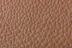 Brown leather texture. Abstract background Stock Images