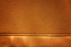 Brown leather texture closeup Stock Image