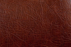Brown leather texture closeup. Royalty Free Stock Image