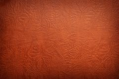 Brown leather texture closeup. Closeup of brown leather textured background stock photo