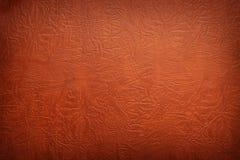 Brown leather texture closeup. Stock Photo