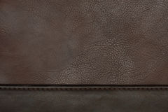 Brown leather texture. Closeup detail Stock Photo