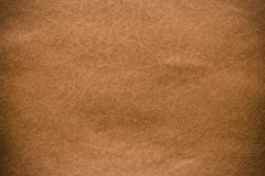 Brown leather texture closeup and pattern background. stock image