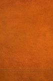 Brown leather texture hi res. A detailed leather pattern. Seam on the bottom Stock Photo