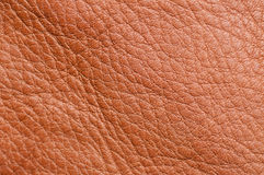 Brown leather texture up close Royalty Free Stock Photos