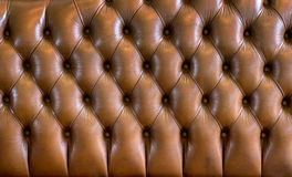 Brown leather texture of vintage sofa Royalty Free Stock Photo