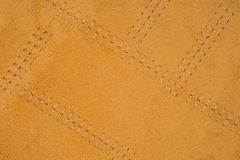 Brown leather textured background Stock Images