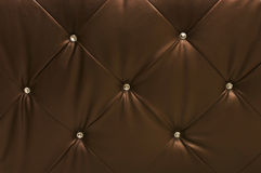 Brown leather upholstery Royalty Free Stock Photography