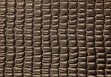 Brown leather upholstery close up. Royalty Free Stock Image