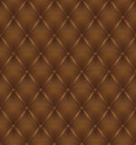 Brown leather upholstery seamless background. Vector illustration Stock Photo