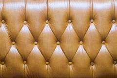 Brown leather upholstery Stock Photos