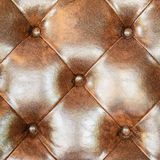 Brown leather upholstery sofa background for decoration. Royalty Free Stock Photography