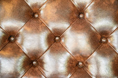 Brown leather upholstery sofa background for decoration. Stock Photography