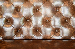 Brown leather upholstery sofa background for decoration. Stock Images