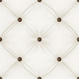 Brown leather upholstery. White leather upholstery background for a luxury decoration. Seamless pattern. Vector illustration Royalty Free Stock Images