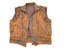 Brown leather vest Stock Photos