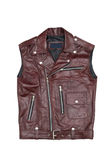Brown leather vest Royalty Free Stock Photos