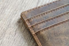 Brown Leather Wallet royalty free stock photo
