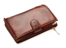 Brown Leather Wallet Royalty Free Stock Photos