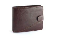 Brown leather wallet 2 Royalty Free Stock Image