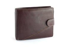Brown leather wallet 2. Brown leather wallet on white background Royalty Free Stock Image