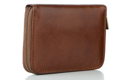Brown leather wallet Stock Photography