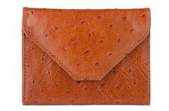 Brown leather wallet Stock Photos