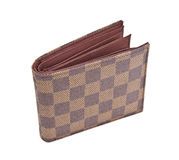 Brown Leather Wallet. Royalty Free Stock Photo