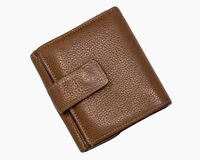 Leather Wallet. A Brown leather folding wallet Royalty Free Stock Images