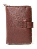Brown Leather wallet or purse Stock Images