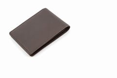 Brown leather wallet. Royalty Free Stock Photos
